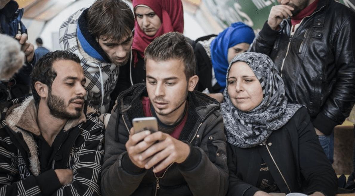 Signpost users using app