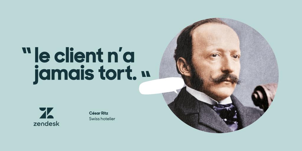 """""""Der Kunde hat niemals Unrecht"""", so der Schweizer Hotelier César Ritz"""