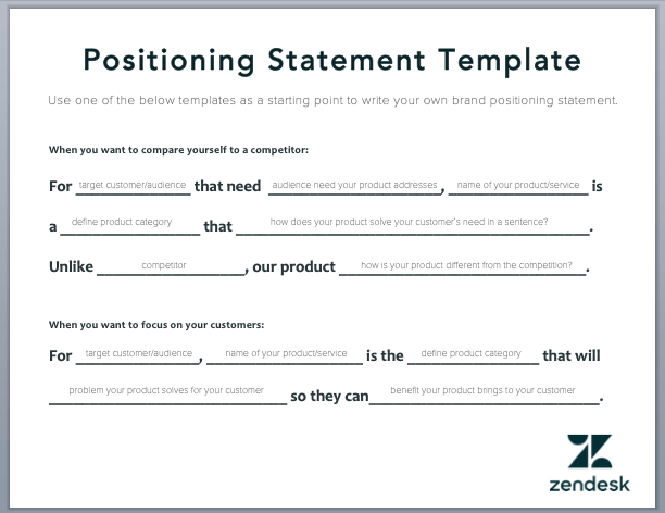 Top 12 Positioning Statement Examples Free Template