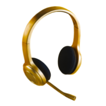 gold headset
