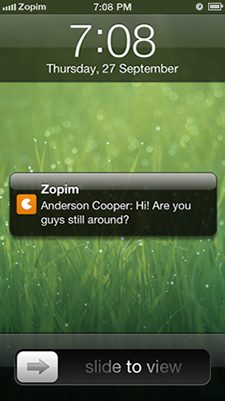 Zopim Mobile Screenshot