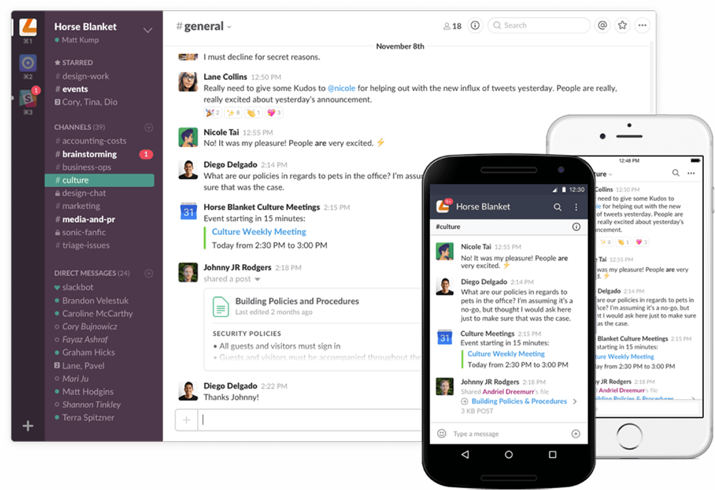 Screenshot: Slack