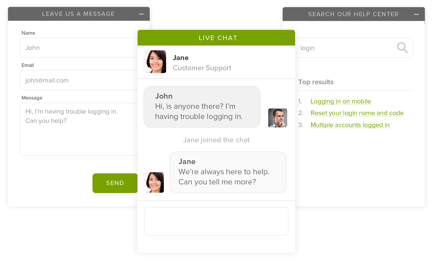 An example of how Zendesk Chat can be used for WordPress live chat via Zendesk.