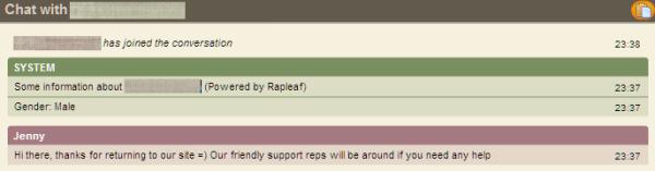 Zopim Rapleaf Integration