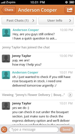 Zendesk Chat - iPhone App | Live Chat | Mobile App